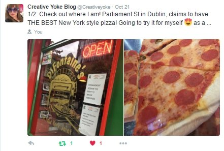 Pizza shop and slices