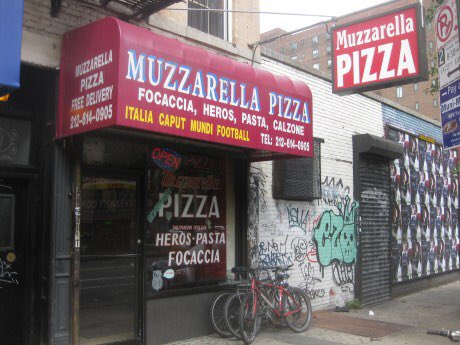 Muzzarella pizza store