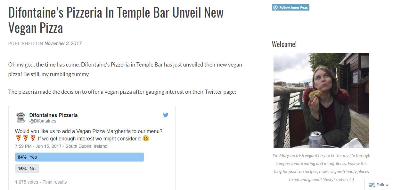 Difontaines Vegan Pizza Inner Peas blog