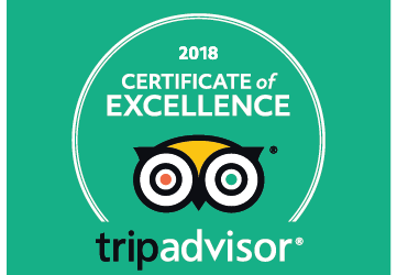 TripAdvisor Certificate of Excellence 2018 – For the Third Time!
